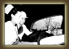 Dr. Charles Drew attending to a patient.